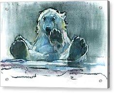 Ice Bath Acrylic Print by Mark Adlington