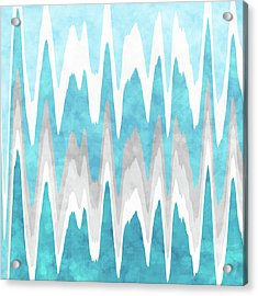 Acrylic Print featuring the mixed media Ice Blue Abstract by Christina Rollo