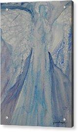 Ice Blue Angel Acrylic Print by Jeanne MCBRAYER