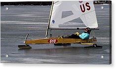 Ice Boat - Madison - Wisconsin  Acrylic Print