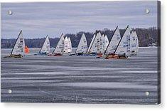 Ice Boat Racing - Madison - Wisconsin Acrylic Print