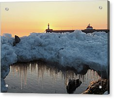 Ice Bridge Acrylic Print by Alison Gimpel
