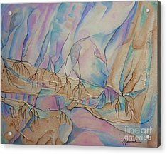 Ice Cascade Acrylic Print by Marcella Muhammad