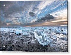 Ice Chunks Sunset 2 Acrylic Print