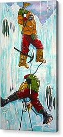 Ice Climbers Acrylic Print by V Boge