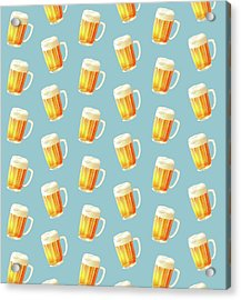 Ice Cold Beer Pattern Acrylic Print