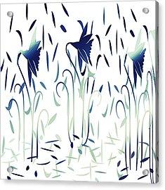 Ice Cold Dancing Flowers Acrylic Print