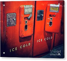 Ice Cold Red  Acrylic Print by Steven Digman