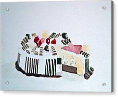 Ice Cream Cake Watercolor Acrylic Print