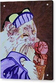 Ice Cream Kitty Acrylic Print