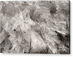 Ice Crystals Acrylic Print by Heather Kirk