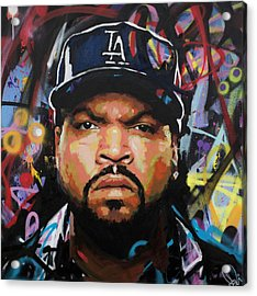 Acrylic Print featuring the painting Ice Cube by Richard Day