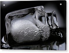 Acrylic Print featuring the photograph Ice Cube V2 by Rico Besserdich