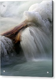 Acrylic Print featuring the photograph Ice Dam by Timothy McIntyre