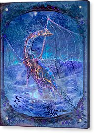 Acrylic Print featuring the painting Ice Dragon by Steve Roberts