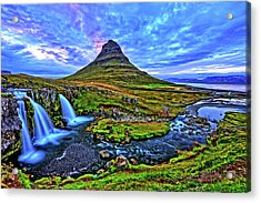 Acrylic Print featuring the photograph Ice Falls by Scott Mahon