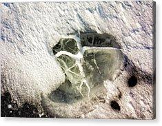 Ice Fishing Hole 21 Acrylic Print