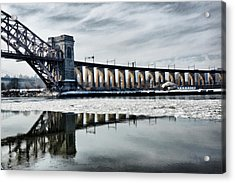 Ice Flows Under The Hellgate Acrylic Print