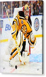 Ice Hockey Goalie  Acrylic Print by Lanjee Chee