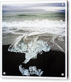 Ice In Iceland Acrylic Print by Matthias Hauser