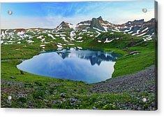 Ice Lake Panorama Acrylic Print by Johnny Adolphson