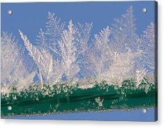 Ice On A Line Acrylic Print