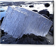 Acrylic Print featuring the photograph Ice On Rocks 1 by Sami Tiainen
