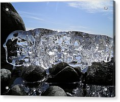 Acrylic Print featuring the photograph Ice On Rocks 3 by Sami Tiainen