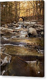 Ice On Stickney Brook Acrylic Print