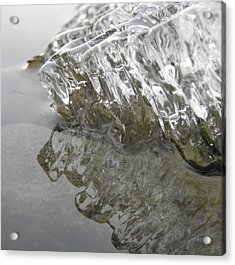 Acrylic Print featuring the photograph Ice On Water 1 by Sami Tiainen