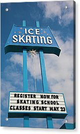 Acrylic Print featuring the photograph Ice Skating 2 by Matthew Bamberg