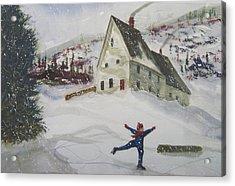 Ice Skating Acrylic Print