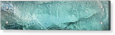 Ice Texture Panorama Acrylic Print by Andy Astbury