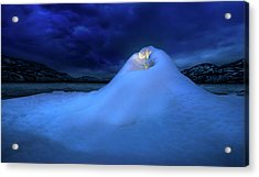 Acrylic Print featuring the photograph Ice Volcano by John Poon