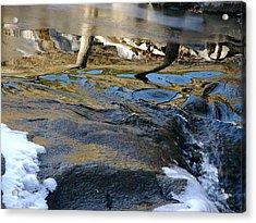 Ice Water Reflection Acrylic Print