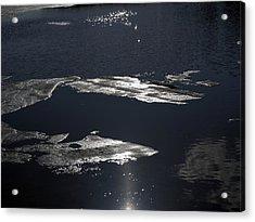 Ice Water Acrylic Print by Stan Wojtaszek