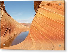 Ice With The Wave Acrylic Print by Tim Grams
