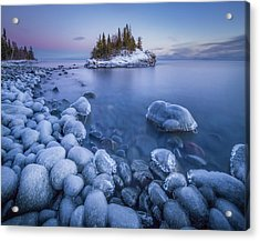 Ice World // North Shore, Lake Superior  Acrylic Print