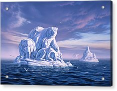 Icebeargs Acrylic Print by Jerry LoFaro
