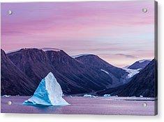 Iceberg Sunset - Greenland Photograph Acrylic Print by Duane Miller