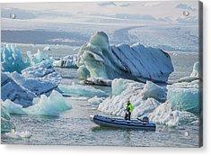 Icebergs On Jokulsarlon Lagoon In Iceland Acrylic Print