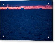Icebergs On The Distant Horizon Acrylic Print