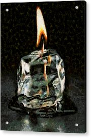 Iced Candle Acrylic Print by Leonardo Digenio