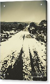 Iced Over Road Acrylic Print