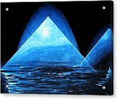 Iced Reflection Acrylic Print by Holly Ethan