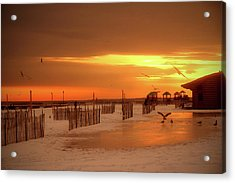 Iced Sunset Acrylic Print