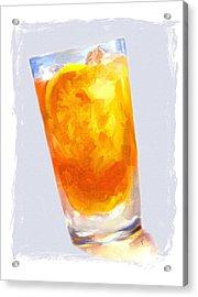 Iced Tea Acrylic Print by Jai Johnson