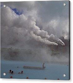 Iceland, Blue Lagoon, Grindavik, People Acrylic Print by Keenpress
