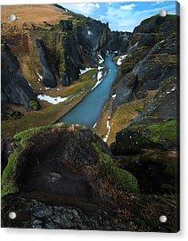 Iceland Gorge Acrylic Print