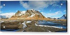 Iceland Landscape Panorama Sudurland Acrylic Print by Matthias Hauser